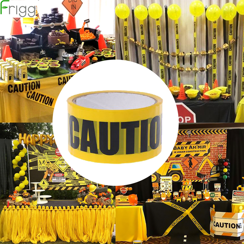 Frigg 1Roll Yellow Opp Warning Tapes Party Decor Caution Barrier Safety Sticker For Home Warehouse Factory School Supplies
