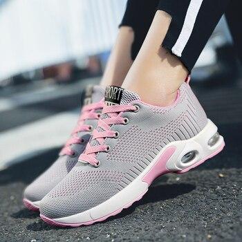 Zapatillas De Tenis Baratas | Tenis Mujer 2019 Nuevos Zapatos De Tenis Flexibles Ligeros Para Mujer Zapatos Mujer Zapatillas De Malla Transpirable Zapatos Deportivos Chaissures Mujer Baratos
