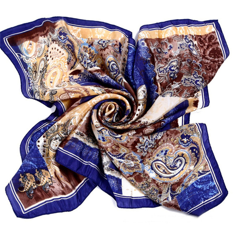 [LESIDA]Vintage 100% Silk Scarf Square,90cm*90CM Twilly Ladies Scarves 2016,National Style Design Satin Women Shawls 9024