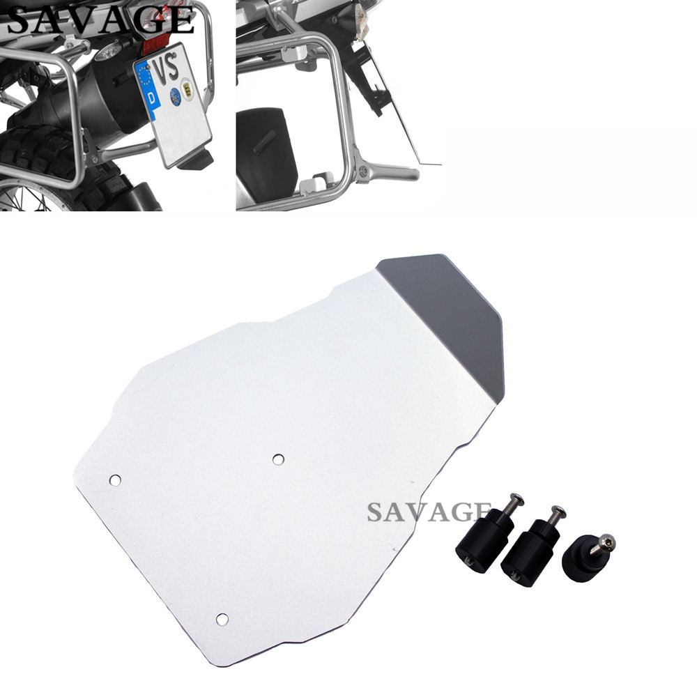 Motorcycle Aluminium Number Plate Splash Guard License Plate Holder For BMW R1200GS LC 2013-2016, R1200GS Adventure LC 2014-2016 акрапович для бмв r1200gs 2013