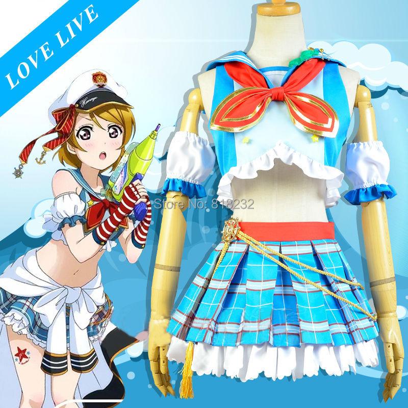 Здесь продается  LoveLive! Love Live Koizumi Hanayo Navy Sailor Suit Dress Outfit Anime Cosplay Costumes  Одежда и аксессуары