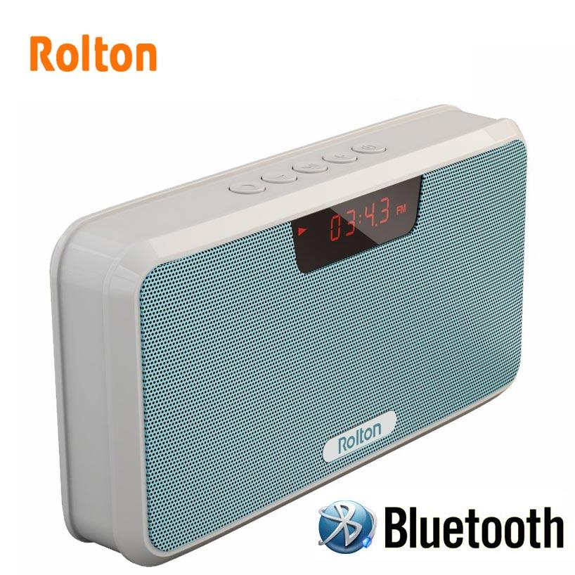 Rolton Banque De Puissance Haut-Parleur Portatif De Bluetooth de Soutien TF Carte Jouer Mp3 Mains Libres Téléphone Radio FM Et LED D'enregistrement écran