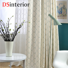 DSinterior classic design embroidery curtain for living room and bedroom