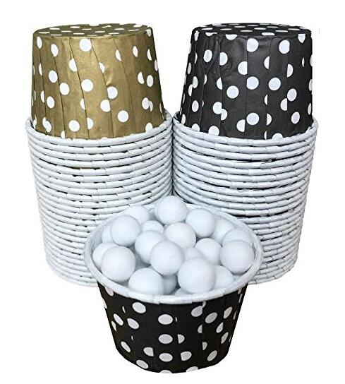 100 Larger And Mini Papers Polka Dot Candy Nut Cups Black