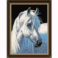 5d Diy Diamond Mosaic Diamond Embroidery Christmas Gfit Diamond Painting White Horse Animal Pictures Home Decor