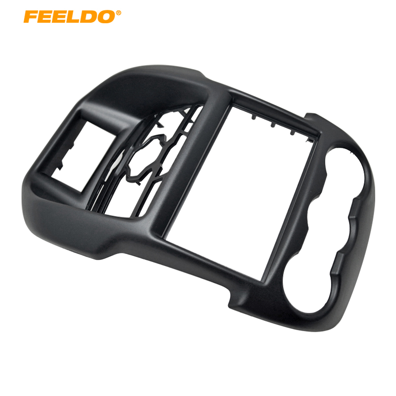 FEELDO 2Din Fascia for Ford Ranger Radio DVD Stereo CD Panel Dash Mounting Installation Trim Kit Face Frame Fasica liislee 2 din plastic frame panel for alfa romeo giulietta 940 2010 2016 aftermarket radio stereo dvd gps navi installation