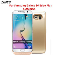 ZKFYS 5200mAh External Bracket Backup Power Bank Battery Case For Samsung Galaxy S6 Edge Plus High Quality Smart Charger