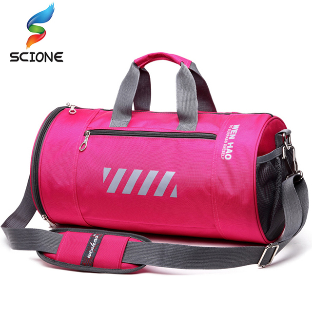 Hot Waterproof Women S Sports Gym Bags Outdoor Fitness Training Shoulder Bag Multi Functional Travel