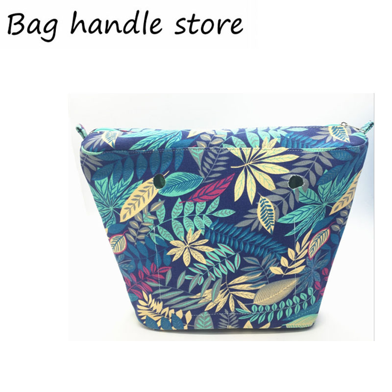 one pcs colorful waterproof Classic big size canvas pocket bag for big silicone obag 2017 new colorful cartoon floral insert lining for o chic ochic canvas waterproof inner pocket for obag women handbag