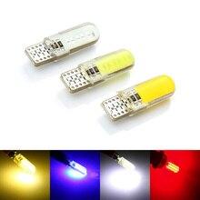 Авто светодиодный W5W светодиодный лампы белый 194 168 501 12 чипов COB силиконовый корпус Автомобильный светодиодный фонарь супер яркая лампа бокового указателя поворота 12В