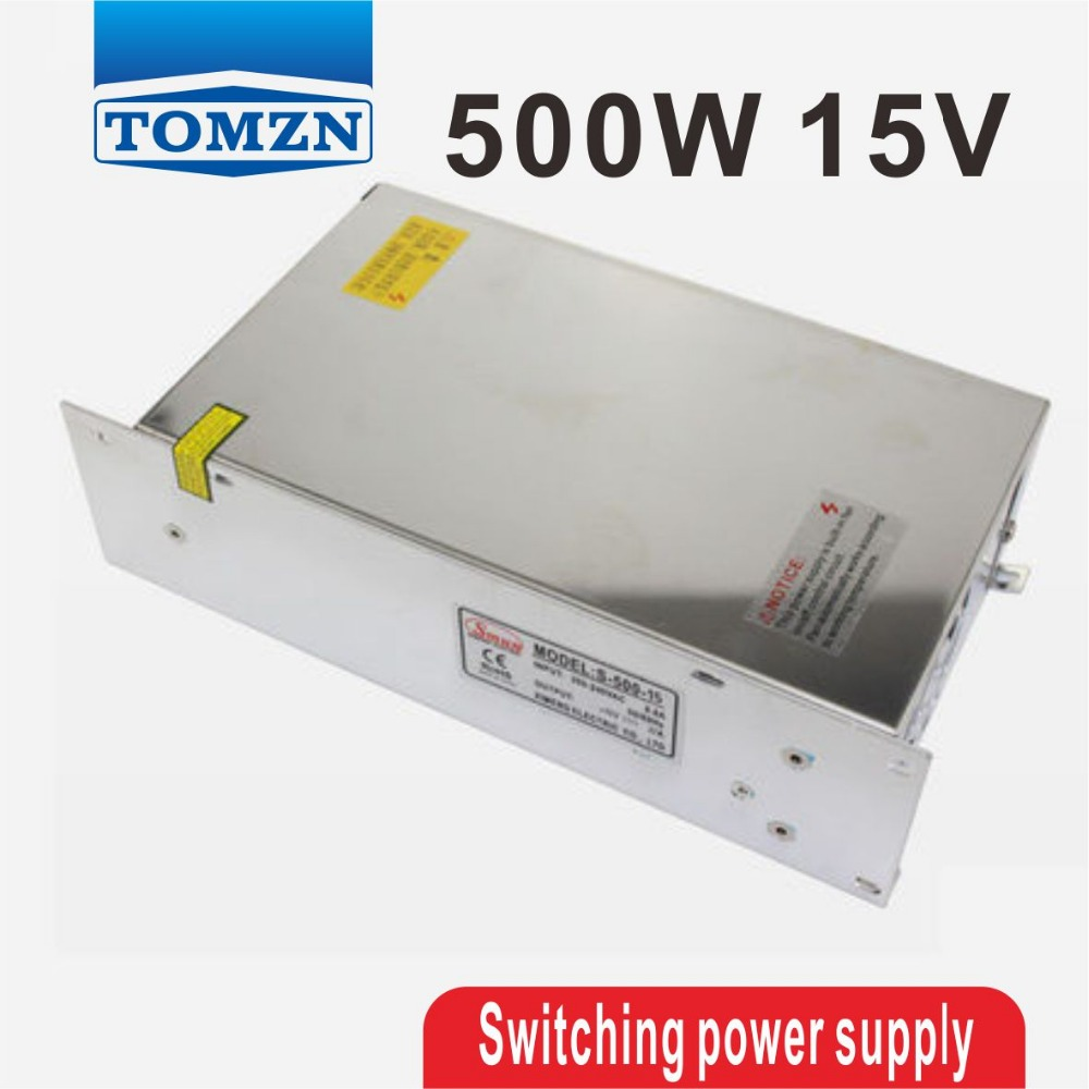 500W 15V 32A 220V INPUT Single Output Switching power supply for LED Strip light AC to DC best quality 12v 15a 180w switching power supply driver for led strip ac 100 240v input to dc 12v