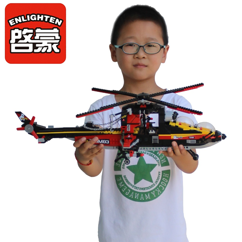 Enlighten Police Building Blocks Toys For Children Gifts City Hero Cars Helicopter Moto Weapon Stickers city series police car motorcycle building blocks policeman models toys for children boy gifts compatible with legoeinglys 26014