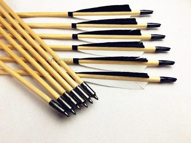 handmade black\u0026white wooden arrow cedar wood arrows for recurve bowhandmade black\u0026white wooden arrow cedar wood arrows for recurve bow longbow hunting 28 33inch