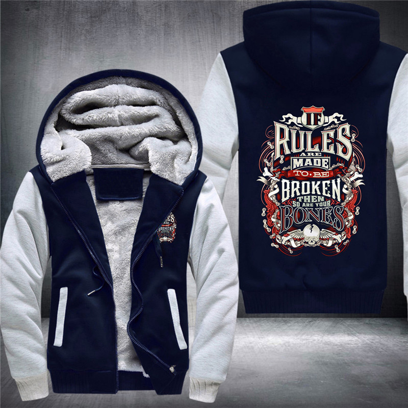 08 Duong Rules Are Made To Be Broken Men's Hugely Popular Hoodies