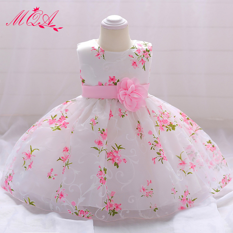 5860a24aa1f1 MQATZ Cute Flower Girls Wedding Dress Tulle Baby Girl Christening Gown For  Party 1 Year Baby