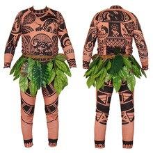 fc120a74f00e8 Bébé enfant film Moana maui costume adulte Cosplay ensembles complets  halloween costumes pour hommes fête hommes fantaisie body .