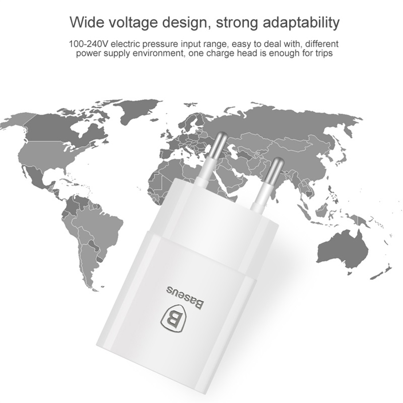 Image 5 - Baseus 5V 2.1A EU Plug Mini USB Charger for Samsung Xiaomi Mobile Phone Charger Adapter Travel Wall Charger for iPhone Charger-in Mobile Phone Chargers from Cellphones & Telecommunications