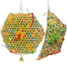 PipiFren птица игрушки большой для попугая Conure аксессуары Окунь и волнистый игрушечный попугай поставки клетка украшения африканский серый