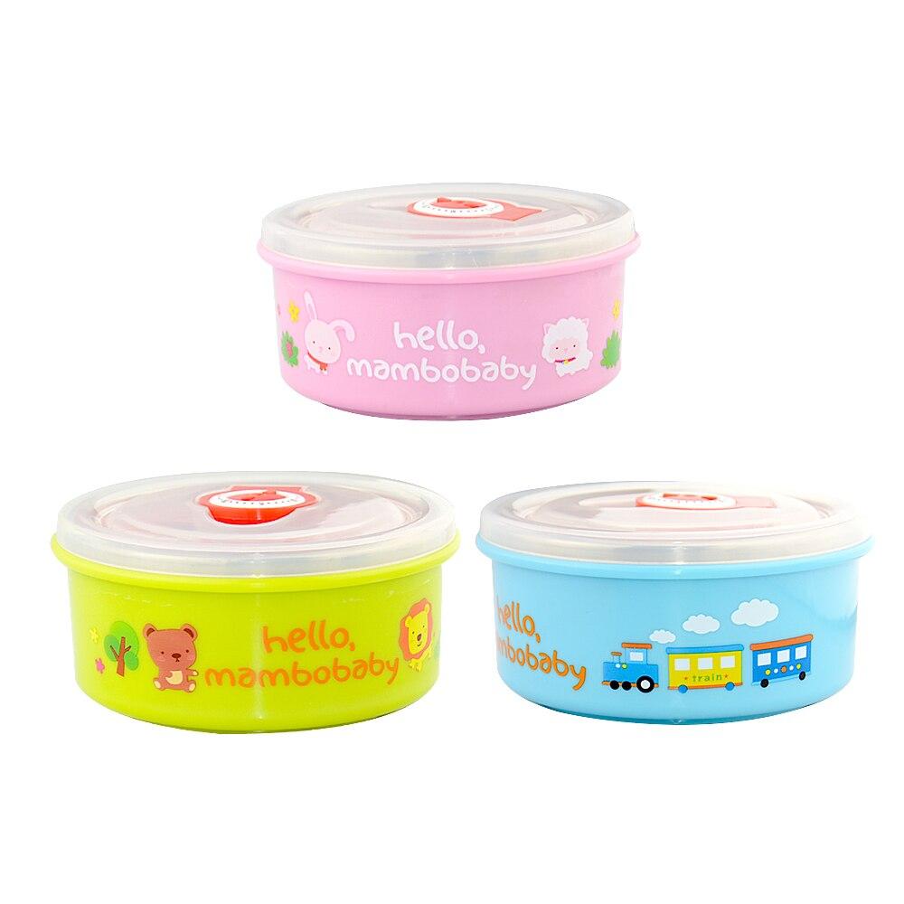 RVS Baby Bowl Baby Baby Feeding Bowl zuig baby-accessoires Karakter voeding Gerechten kinderen serviezen Servies