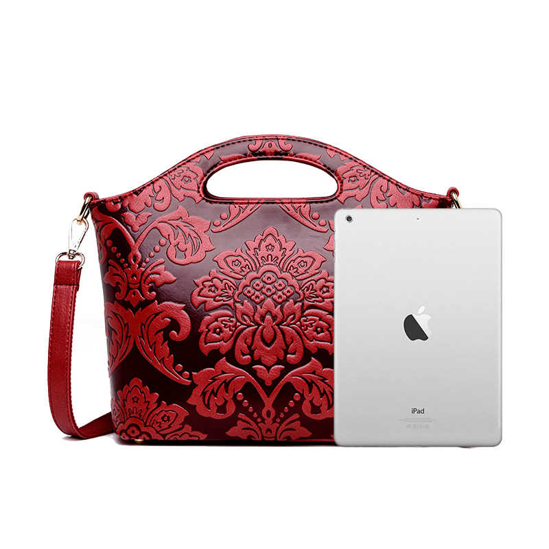Красная женская сумка на плечо Женская Вышивка женская маленькая сумочка Роскошные сумки женские сумки дизайнерская сумка через плечо для женщин 2019