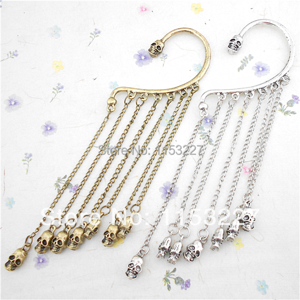 11 Ping Festival Punk Style Skull Tel Bronze Shape Ear Hook Earrings Types In Stud From Jewelry Accessories On Aliexpress Alibaba