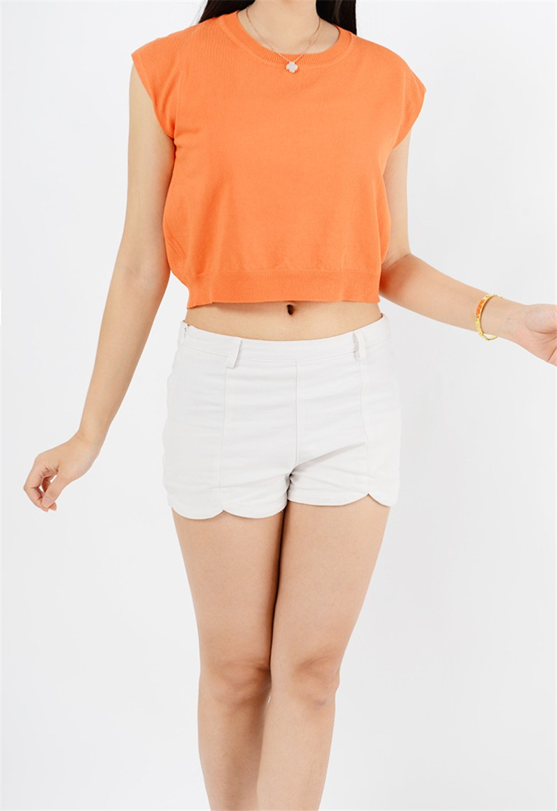 Summer 2016 Solid knitted short Pullover Sweater (28)