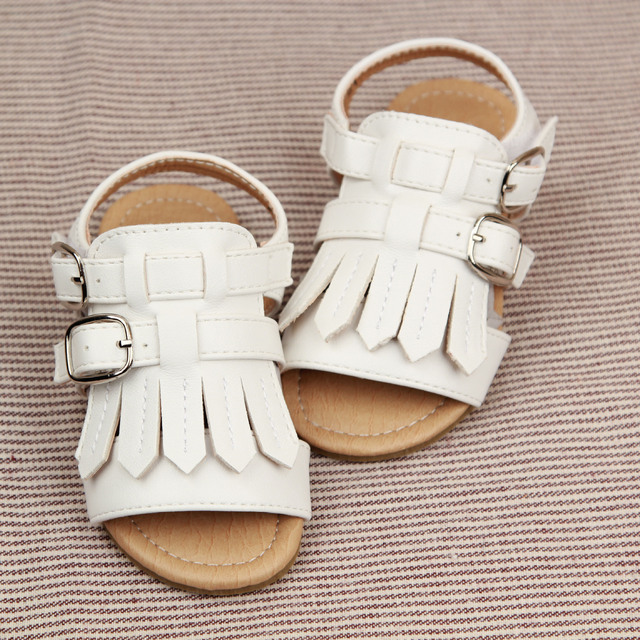 2016 Summer Korean Princess baby fashion sandals tassel toe fish mouth shoes  Children Sandals Boys Girls Summer Shoes 1-6