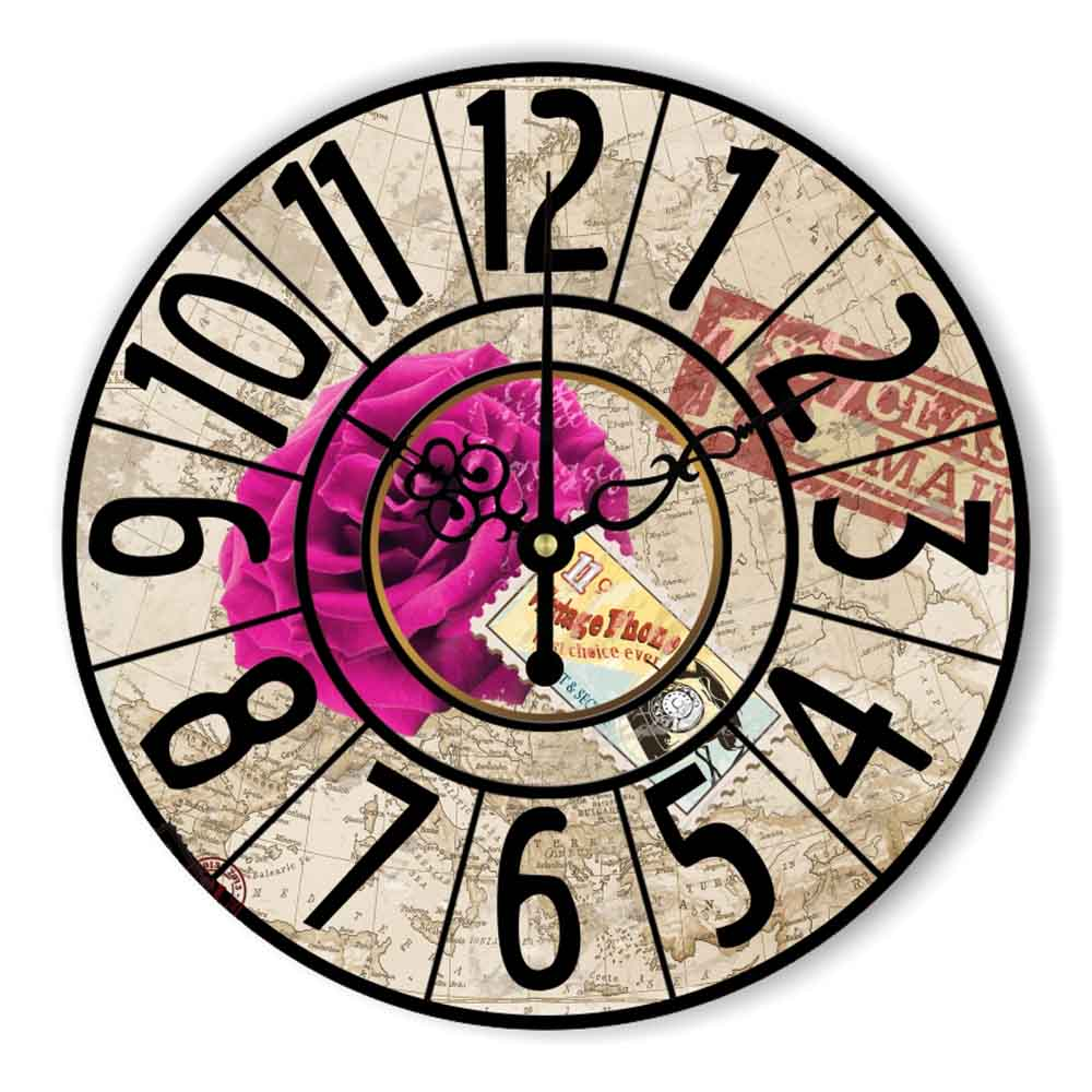Fashion Living Room Large Decorative Wall Clocks Warranty