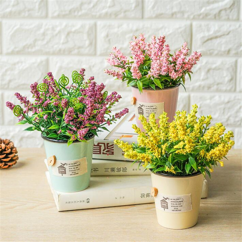 2017 New Rural Small Fresh Flower Simulation Home Decor Pink Yellow