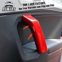 Car styling Interior Door Armrest Handle Cover Trim For Tiguan L 2017 2019 Interior Door Handrail Frame Sequins Trim