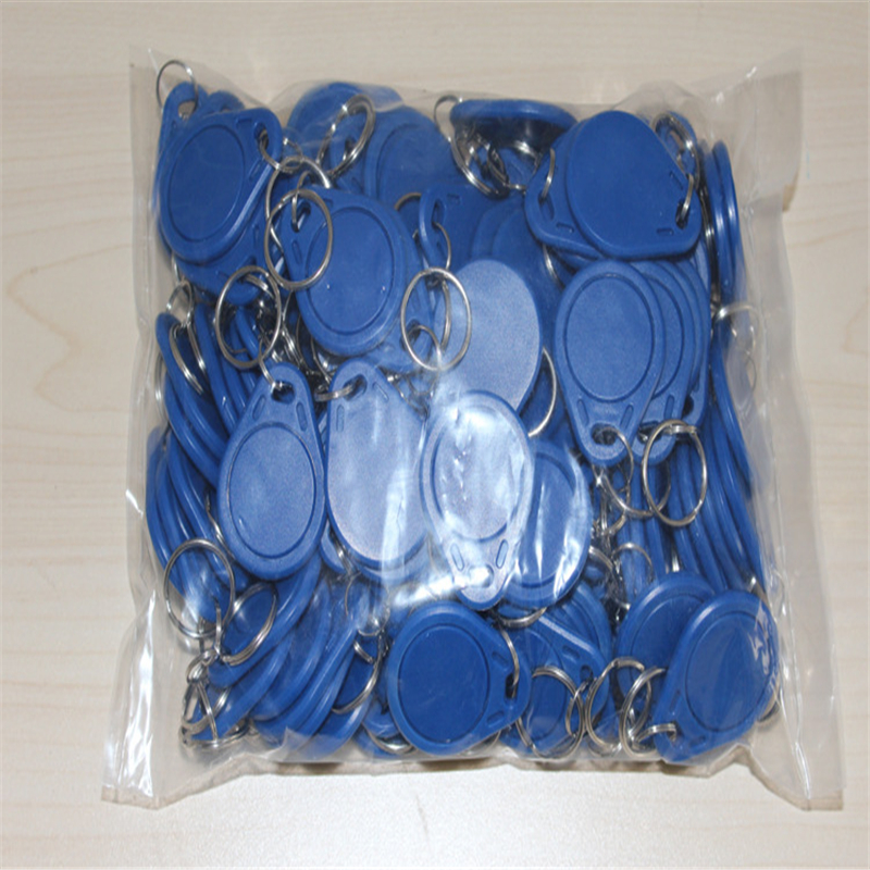 100pcs/lot 125khz ID Keyfob RFID Tag TK4100 EM4100 Access Control Time Attendance Card Sticker Key Fob Token Tags Ring Proximity 100pcs bag tk4100 em id keyfob k001