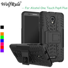 WolfRule Alcatel Pop 4 Plus Funda suave de TPU Funda de teléfono de plástico duro para Alcatel Pop 4 Plus Funda un toque Pop 4 + 5056D(China)