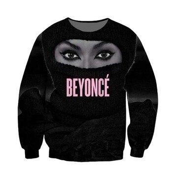 Women Men Trill Yonce Queen Bey Beyonce Legendary Singer 3D Sublimation print Sweatshirt Crewneck Sweats Jumper Plus Size