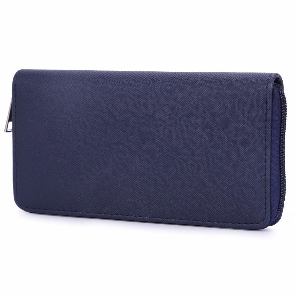 DAVIDJONES Women Wallets Coin Pocket Solid Wallet Women Zipper 2018 Large Capacity Feminina Bolsa Purse Card Collector