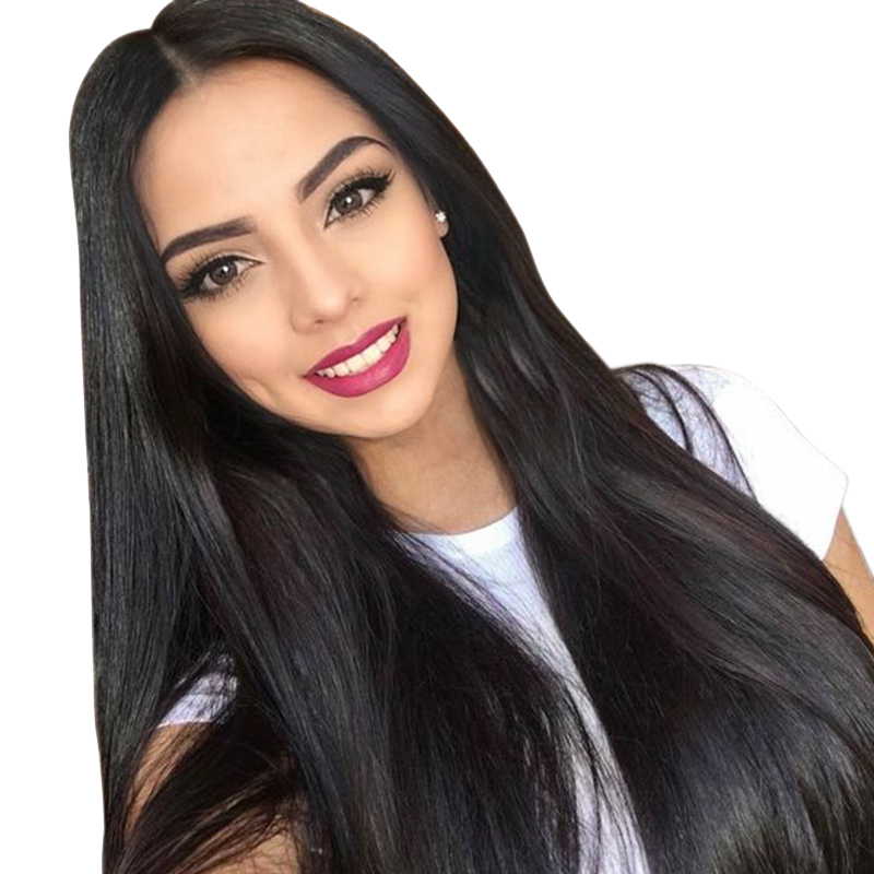 Indian Lace Front Human Hair Wigs For Women Remy Hair 4*4 Straight Wig With Baby Hair Natural Hairline 250% Density Lace Wig