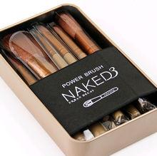 Pro Makeup Cosmetic Wool Fiber Brushes Powder Foundation Eyeshadow Lip Brushes Makeup Tool 12pcs/Set
