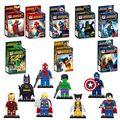 8 unids Marvel Super Heroes Iron Man Spiderman Batman Figuras Avengers Mini Bloques Juguetes de Los Ladrillos Compatible Película de Superhéroes Minifig