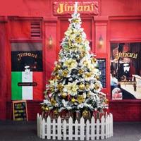 1.5 m / 150cm white Christmas tree flocking spray snow snowflake Christmas ornament Christmas tree encryption