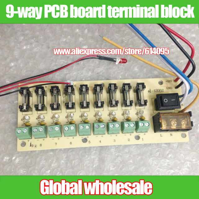 12v dc power distribution 9 way pcb board terminal block for rh aliexpress com