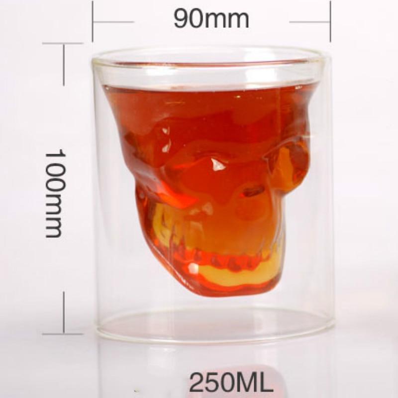1 stk. 2,75 tommer 7 cm lille krystal kraniet hoved skud glas kop - Køkken, spisestue og bar - Foto 6