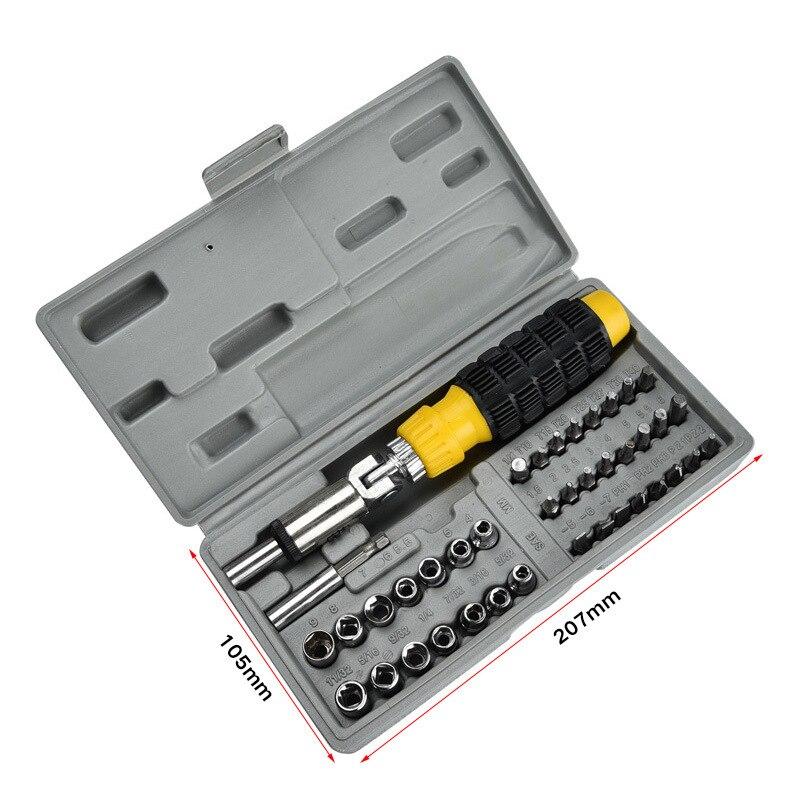 41 шт., набор торцевых гаечных ключей, инструмент для ремонта авто, комбинированный Быстрый Многофункциональный гаечный ключ, Аппаратный набор инструментов