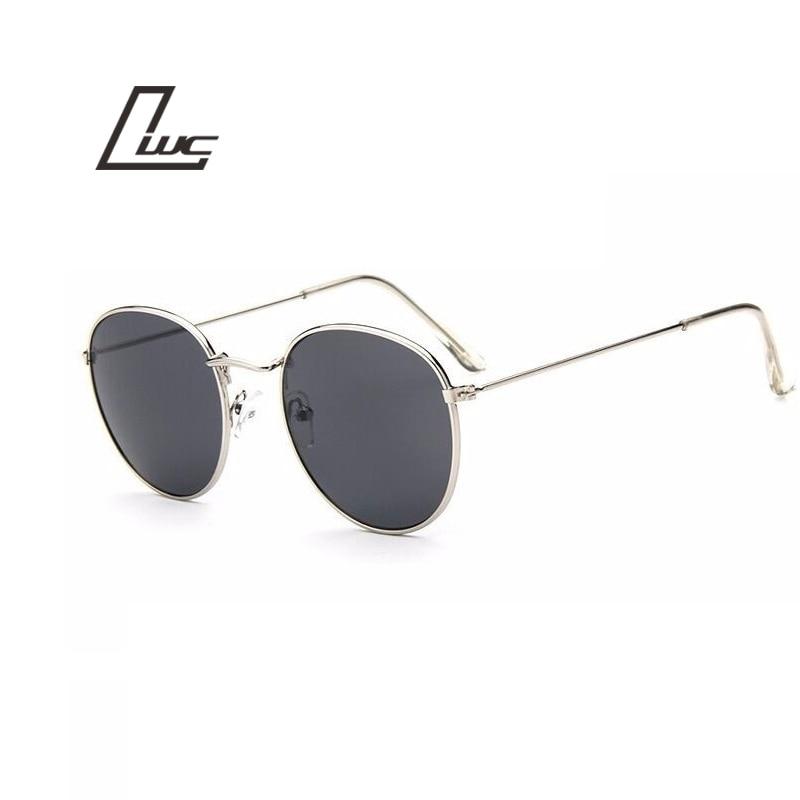 2017 Sun Glasses For Women Round Brand Designer Men Sunglasses Women Mirror Luxury Black Male Sunglasses Female Oculos De Sol