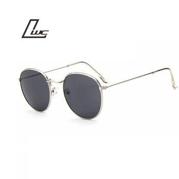 2017 Óculos de Sol para As Mulheres Rodada Marca Designer Homens Óculos De Sol Das Mulheres Espelho Preto De Luxo Masculino Óculos De Sol Feminino Oculos de sol