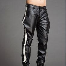 Высокого класса на заказ Мужская цвет Панталоны кожа Штаны моды личности. 29-37