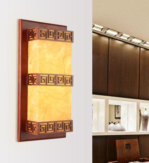 Rustikalen Stil Braun Holzrahmen Wand Antike Lampen Weiß/gelb Pergament E27  LED Lampe Für Schlafzimmer U0026 Veranda U0026 Treppen U0026 Pavilion XDBD006 In  Rustikalen ...