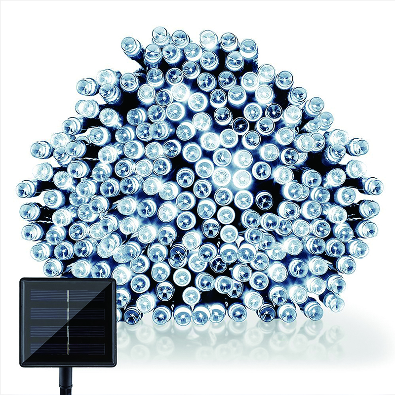 22M 200 LED solar membawa lampu tali Garland Krismas Lampu Suria - Pencahayaan perayaan - Foto 4