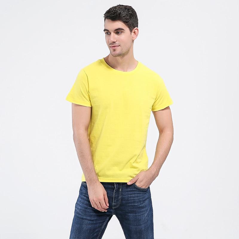 O-Neck באיכות גבוהה כותנה חולצת טריקו - בגדי גברים