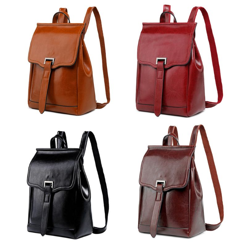Fashion Women Genuine Leather Travel Backpack Shoulder School Bag Multifunction Girls Student Bookbag Rucksack Satchel DaypackFashion Women Genuine Leather Travel Backpack Shoulder School Bag Multifunction Girls Student Bookbag Rucksack Satchel Daypack