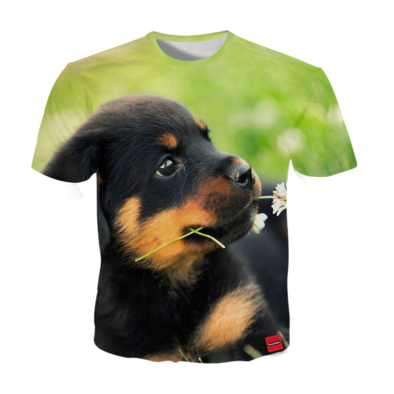 Cloudstyle Cute Dog 3D Print T shirts Men Clothes 2018 Animal Pattern Short Sleeves Tee Shirts Tops Fashion Plus Size 5XL