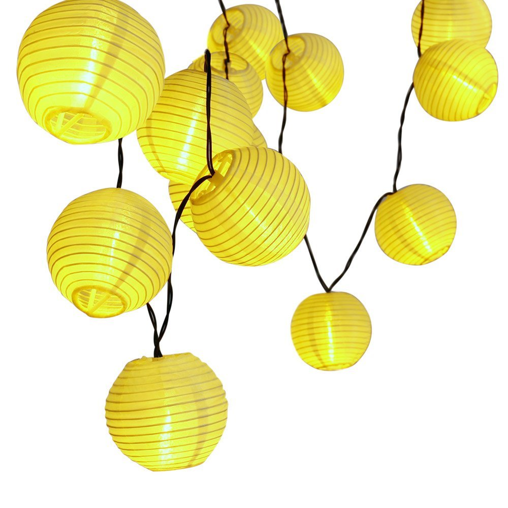 30 font b LED b font Lantern Ball Solar font b String b font Lights Outdoor